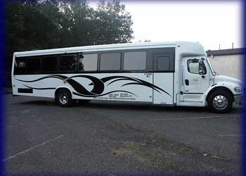 New York 40 Passengers New Jersey limo bus 40 Pass NJ,NY,PA,CT Bus Service