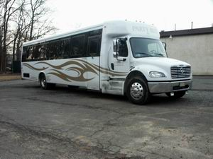 40-38 Pass Limo Bus Mercedes Benz , New Jersey Party Bus 38-40 pass ,NJ Limo Bus 40 pass